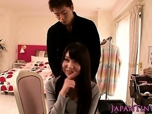 Tiny japanesebabe roughly doggystyle banged