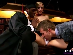 harmony vision young harlot punished with interracial dp