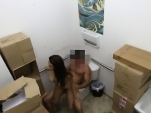 Pawnshop amateur doggystyle pussyfucked