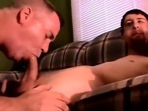 Sexy men The guys delicious meat finds itself slipping down
