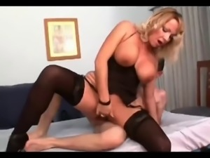 Busty Mom Loves Young Boy...F70