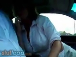 Cheating Businessman Gets Car Blowjob From Colleague free