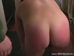 Spanking The MILF In The Kitchen