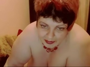 Chubby short haired torrid pale nympho exposed her ugly big rack