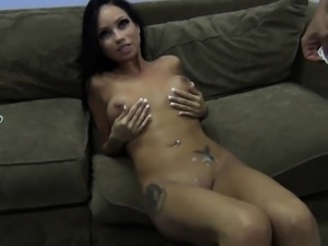 Bodacious beauty Raven Bay gets her wet slit eaten out and banged deep