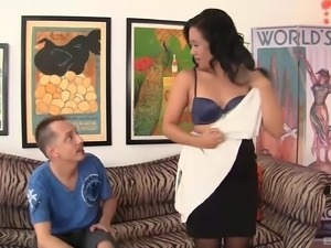 Horny Asian mom needs some dick from a younger guy