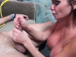 Angelina Valentine and Taylor Wayne delivering magnificent blowjobs