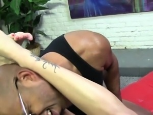 Fetish slut licks jizz