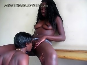 African beauty tongues horny black gf