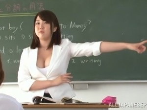 Busty Japanese Babe Gives This Dude The Hottest POV Titjob