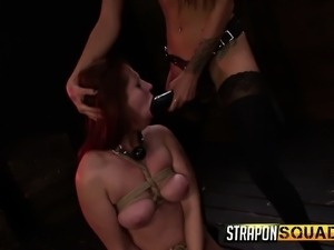 Sexy brunette Autumn Kline submits to Esmi Lee and reaches her climax