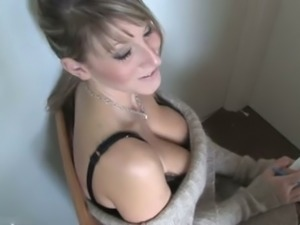 She knows that a good downblouse will give her advantage