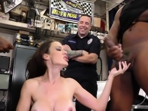 Domina babe cuckolds cop