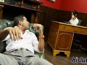 Sexy doctor has her orgasmic snatch pounded