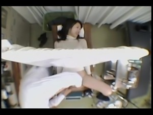 Japanese babe gets a dirty Gyno exam 1