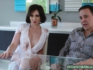 He just moved in but his sexy aunt welcomes him with hot sex