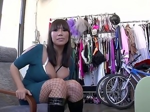 Marvelous chubby chick with huge natural boobies Ava Devine is being seduced...
