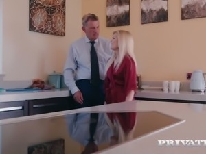 Mature husband watching his sexy young wife Candee Licious fucking another man