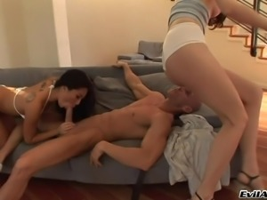 Icy hot Asian cowgirl with a nice ass enjoys getting throbbed hardcore in a...