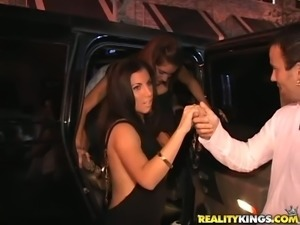 Fransheliz Vasquez gets her pussy fucked and licked at a party