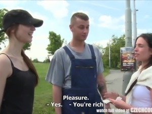 This Czech couple is offered some cold hard cash to get naked in public and...