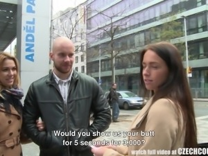 She has a pile of cash, and she wants to give it to this hot Czech couple,...