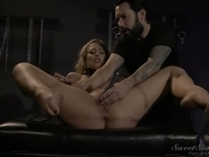 helpless chick is bound and has her pussy eaten out @ darker side of desire