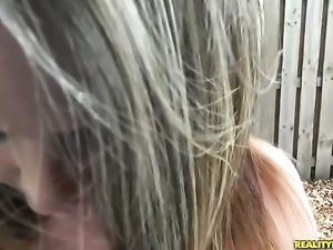 Blonde enjoys dick sucking too much to stop in steamy oral action