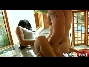 Darksome brazilian chick gets hammered