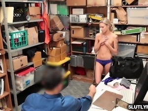 Emma Hix blowjob the LP Officers big meat