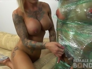 BrandiMae's been wrapped up in plastic by Duchess Dani