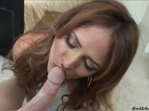 Big Tits Monique Fuentes Receives A Hot Cumshot Load In POV Blowjob