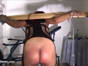 Latina bdsm and electro shock fetish of tortured south american slavegirl