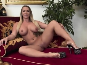 Amazing Madelyn Marie rides a long prick