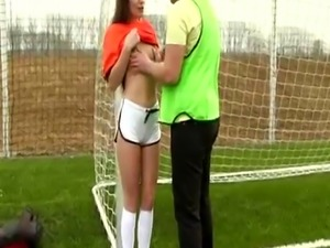 Hot bi couple sex and tiny petite teen Dutch football player poked by