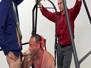 Straight turned slave and gay guy talks playmate into blowjob Teamwork