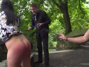 Sandra and Naomi enjoy the public aspect of submission, especially when it...