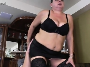 Huge mature mother fucks her young January from dates25com