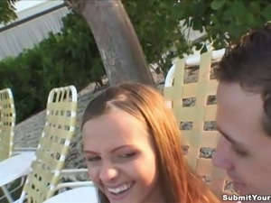 Amazing Amateur With Long Hair Giving An Awesome Blowjob