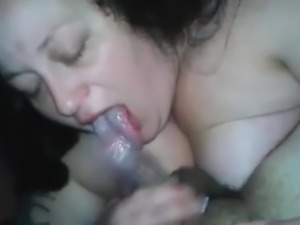 White Las Vegas BBW sucking my young latino cock