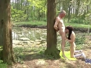 Outdoor Old Man Fucked Young Girl Virgin Pussy tight twat 18