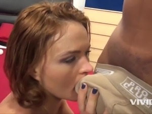 Krissy Lynn gets drilled by a big fat cock