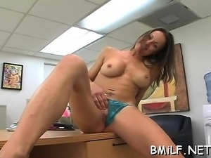 Fascinating pornstar goes dirty when she sees large penis