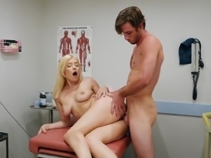 Undressing his doctor Giselle Palmer to drill her quivering pussy