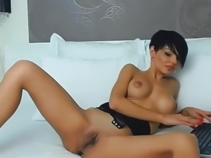 Amazing beautiful babe AlexyBella with big nice tits