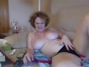 #2 PS - mature big boobs busty cam with red hair