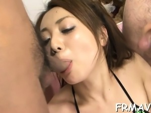 Demure japanese charms several dongs with lusty engulfing