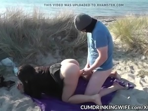slutwife marion gangbanged by strangers on public beaches