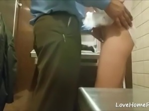 Blonde with a great big boobs gets doggystyle banged by her new boss