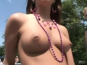 Beach Group Sex Outdoors with Hot Babes